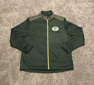 Majestic Green Bay Packers Men's XL Full Zip Fleece Jacket Therma Base NFL Logo