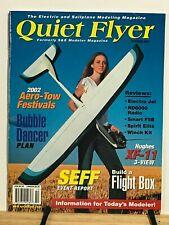 Quiet Flyer 2002-5 issues -Electric R/C Airplane Glider Sailplane Modeler