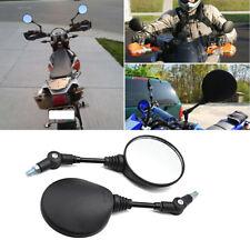 1 Pair Black Folding Plastic Shell Motorcycle Rear View Mirror 8mm/10mm Screws