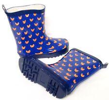Kids Girls Boys Blue Foxy Wellington Wellies Boots Size 11/29