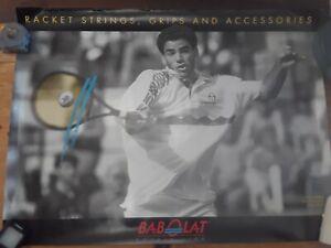 """Vintage PETE SAMPRAS Tennis Poster - 24"""" x 31"""" - Babolat Rackets advertising"""