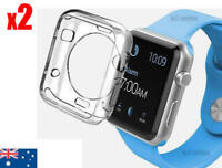 Apple Watch Soft Silicon 2 Case Cover iWatch Series 1 2 3 Clear Transparent 42MM