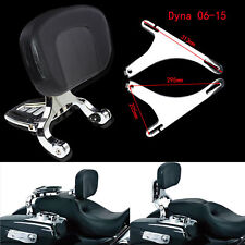 Adjustable Multi-Purpose Driver & Passenger Backrest Fit For Harley Dyna 06-17