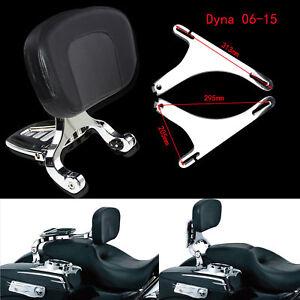 Adjustable Multi-Purpose Driver & Passenger Backrest Fit For Harley Dyna 06-17