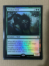 Wicked Wolf FOIL MTG Throne Of Eldraine RARE Magic The Gathering * NEW *