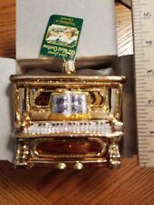 Piano Ornament Glass Golden Piano Old World Christmas 38017 18