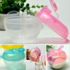 3-Grids Infant Baby Milk Powder Formula Dispenser Food Storage Pot Feeding Boxs