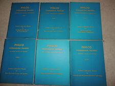 Rare Vintage Philco Standardized Electronics Training Manuals 6 Volumes
