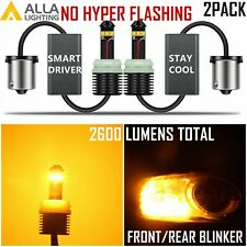 Alla 2057 1157 Brightest Amber Yellow LED Turn Signal Blinker Light Bulb Lamp