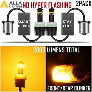 Alla 2057 1157 Brightest Amber Yellow LED Turn Signal Blinker Light Bulb Lamp