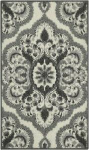 Maples Rugs Vivian Medallion Kitchen Rugs Non Skid Accent Area Carpet [Made in U