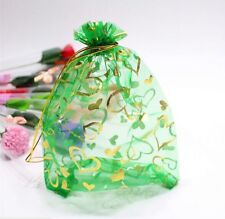 25 pcs Luxury Jewellery Pouches Packing Organza Gift Bags Wedding 7X9cm( Green )