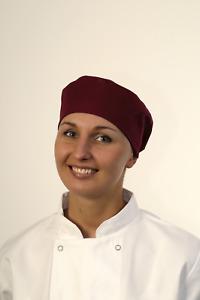 BonChef Skull Cap Claret H005 Polycotton Chefs Comfortable One Size Hat