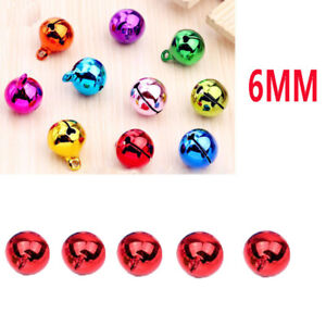 5Pcs 6mm universal Automotive Interior Pendants Metal Jingle Bells Red 1244