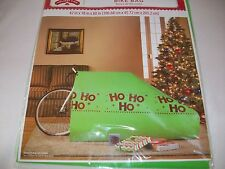 "Happy Holidays Ho Ho Ho Giant Green Gift Bag Bike Big Sack Christmas 26"" Wheels"