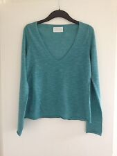 Belle femme Zadig & Voltaire Turquoise Mailles Fines Low Cut pull-Taille 10-12