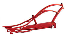 "new 26"" Stretch Beach Cruiser Bike Bicycle Micargi Mustang Frame Red"