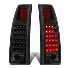 Fit 88-98 C10 Suburban Silverado Black Housing Smoke Led Taillights Tail Lamps