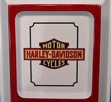 Harley - Davidson Motorcycle Embossed Tin Thermometer ~ Sales / Service Promo