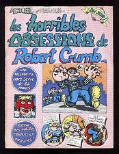 HORRIBLES OBSESSIONS de Robert CRUMB   Hors Série ACTUEL  1974