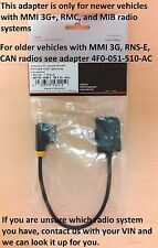 AUDI Genuine OEM  iPhone 5, 6 AMI Lightning Adapter Cable MMI 3G+ 4F0051510AL