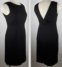 New Valentino mainline sz 44 / US 8 black bow back dress