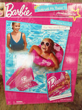 Barbie Swim With Me Pool Time Fun Inflatable Raft, Slide & Innertube NEW doll