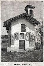 Buguggiate: Chiesa di Santa Caterina a Erbamolle. Varese. Stampa Antica. 1897