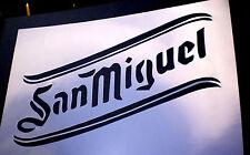 high detail airbrush stencil san miguel logo FREE UK POSTAGE