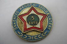 Hungary Hungarian Badge Award 5 Years Volunteer Police Druzhinnik Pin Service