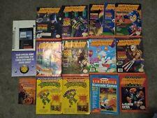 1989-93 Huge Vintage Lot Nintendo Power Magazines Nintendo Strategy Guides, TMNT
