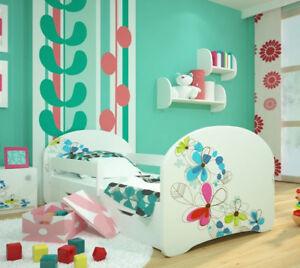 TODDLER BED CHILDREN BED KIDS BED + FREE MATTRESS  160x80 140x70