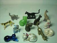 Choose ONE OR MORE Franklin Mint CURIO CABINET CAT Figure Cats Figurine Figures