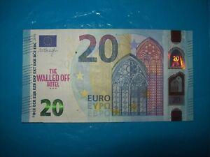 Original Walled Off Hotel €20 Euro Bank Note un signed + Free Banksy Dismaland
