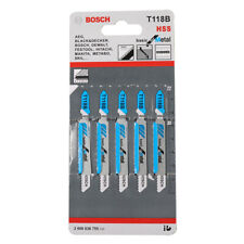 5 x TopsTools T118B Jigsaw Blades for Sheet Metal Fine Cut Dewalt Bosch Makita