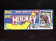 1991 TOPPS HOCKEY COMPLETE SET ( 528 CARDS ) FACTORY SEALED BOX
