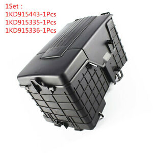 Battery Cover Dust Cover Protection Box Set for VW Passat B6 Golf 5 1KD915335