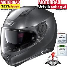 Nolan casco n87 Special plus N-com casco integral motocicleta negro Graphite m 57/58