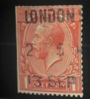 Scott 178 Great Britain King George V 1 Penny Stamp with London Cancel