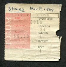 1969 Rolling Stones Let It Bleed Tour Concert Ticket Stub Forum Los Angeles