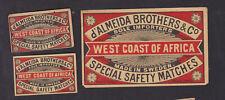 Ancienne  étiquette  allumettes Suède BN86578 Allemagne West  Coast of Africa 2