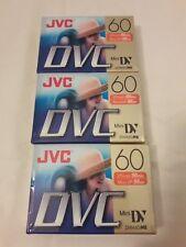 JVC Mini DVC 60 Min Blank Cassette 3 Pack Digital Video DVM60ME MINIDV NEW