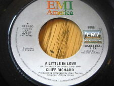 "CLIFF RICHARD - A LITTLE IN LOVE    7"" VINYL"