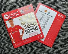 More details for manchester man united v newcastle united official programme c ronaldo 11/9/21!!!