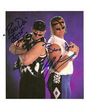 ED269 New Aged Outlaws DX signed wrestling 8x10 w/COA **BONUS** wwe wcw wwf ecw