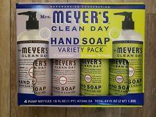 Mrs. Meyer's Clean Day Hand Soap 4-Pack: 2 Lavender & 2 Lemon verbena. 16oz each