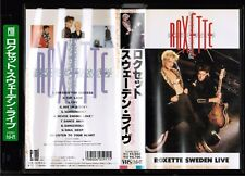 ROXETTE Sweden Live JAPAN VHS VIDEO TOVW-3031 w/INSERT+PIC SLEEVE Free S&H/P&P