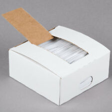 """2000 Twist Ties 4"""" Length Plastic Coated Paper No Rip Cellophane General Use"""