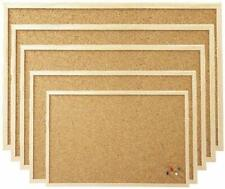 Cork Board Pin Message Notice Board Wooden Frame Office Memo School Pinboard