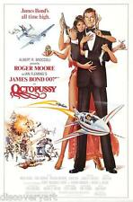 James Bond 007 - Octopussy 1983 Movie Poster Canvas Print Wall Art Roger Moore